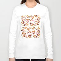 pizza Long Sleeve T-shirts featuring pizza by Erin Lowe