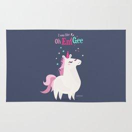 I was like Oh Em Gee - Unicorn Rug