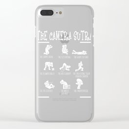 The Camera Sutra Tee Shirt The Carpet Burn The Scissoring The Grape Crusher The Flowerlingus T-shirt Clear iPhone Case