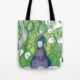 Fog in the Valley Tote Bag