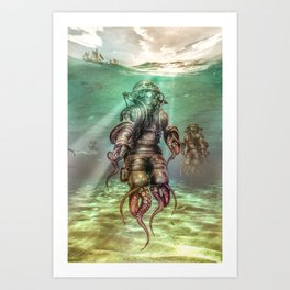 Aquanauts - Tales from under the sea Art Print