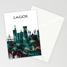 Lagos Skyline Stationery Cards