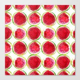 Watercolor watermelon fruit illustration Canvas Print