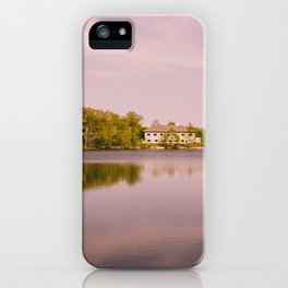 Pink Sky on Evergreen Lake iPhone Case