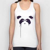 panda Tank Tops featuring Panda by Tobe Fonseca