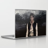 han solo Laptop & iPad Skins featuring Han Solo by Rafal Rola