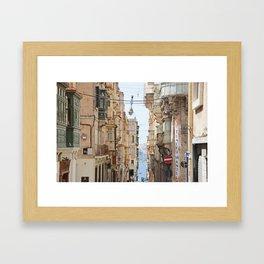 Balconies of Malta Framed Art Print