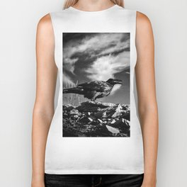 Raven and Clouds Biker Tank