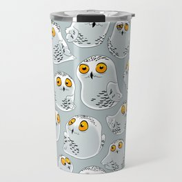 Snowy Owls. Travel Mug