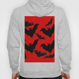HALLOWEEN BATS ON BLOOD RED DESIGN Hoody