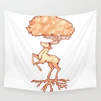 stag Wall Tapestries featuring Stag by Jo Sharp