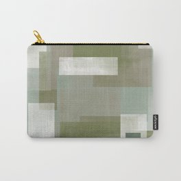 Modern Abstract No. 2 | Sage, Blue-Green, Taupe, White + Peacock Carry-All Pouch