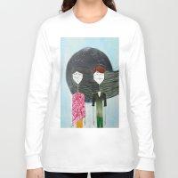 sandra dieckmann Long Sleeve T-shirts featuring Sandra & Amir by Edward M.