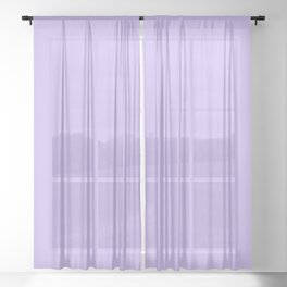 Monochrome collection Purple Sheer Curtain