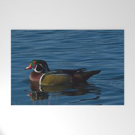 Colorful Wood Duck Welcome Mat