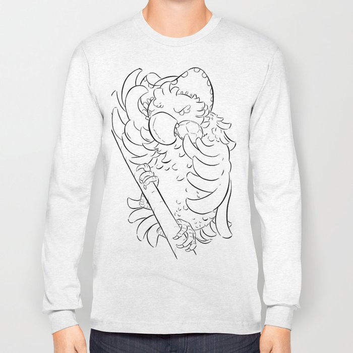 Pirate Parrot - ink Long Sleeve T-shirt