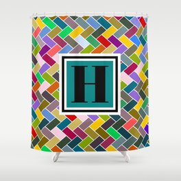 H Monogram Shower Curtain