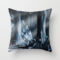 nausicaa Throw Pillows featuring Nausicaa by Roberto Nieto