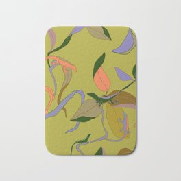 Find a Lizard Tropical Seamless Print Bath Mat