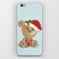 teddy bear iPhone & iPod Skins featuring Teddy bear by Toru Sanogawa