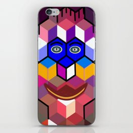 cube face iPhone Skin