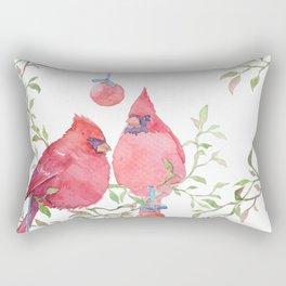 The Christmas Chirps Rectangular Pillow