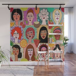 the colors of women Wall Mural