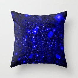 Dark Matter Galaxy Blue Throw Pillow