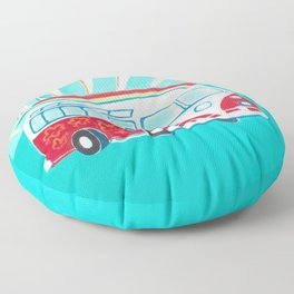 Surfer Sunrise Floor Pillow