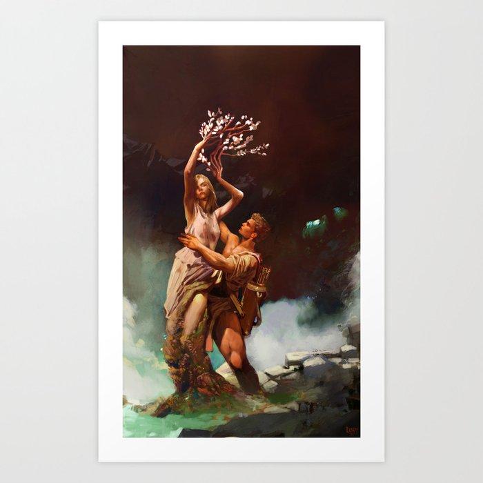 Apollo and Daphne Art Print