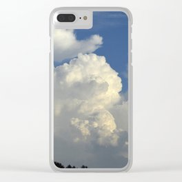 Billowing White Clouds Brilliant Blue Sky Clear iPhone Case