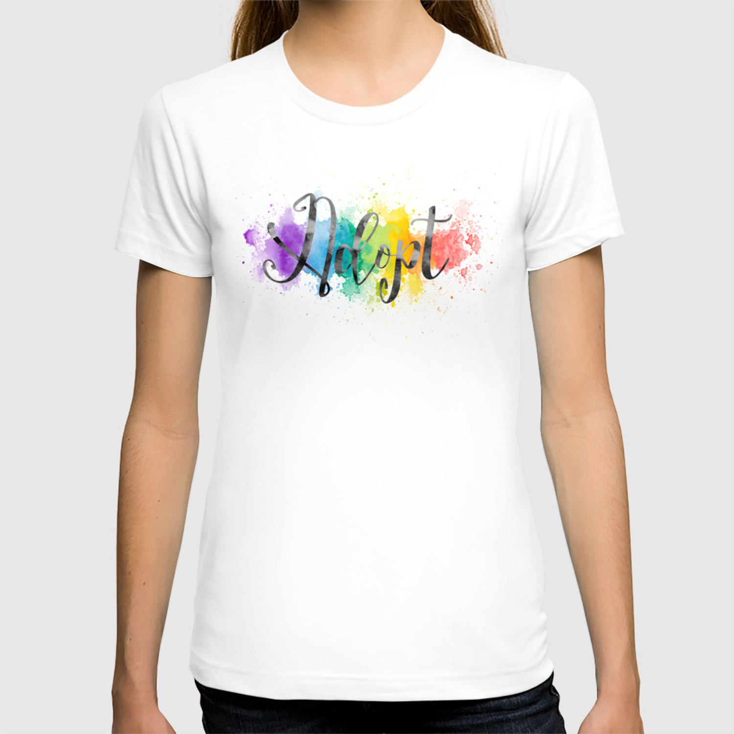 4aab9a7f1ebfb Adopt | Our Rainbow Baby T-shirt