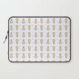 Golden pineapple pattern Laptop Sleeve