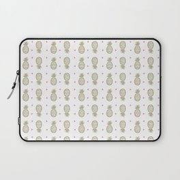 Golden pineapple pattern Laptop Sleeve