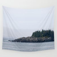 maine Wall Tapestries featuring Maine by katharine stackhouse