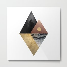 Night and Day Modern Scandinavian Abstract Metal Print