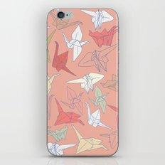 Paper Cranes- Peach iPhone & iPod Skin