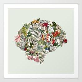 My Botanical Brain Art Print