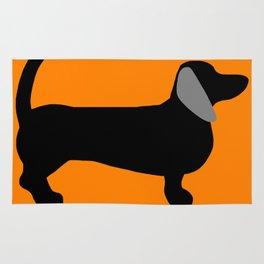 Halloweiner Dog Rug