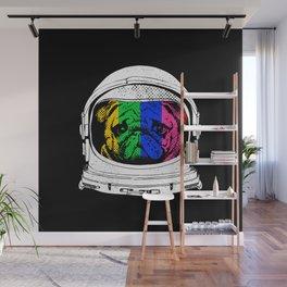 Astronaut Pug Wall Mural