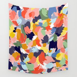 Bright Paint Blobs Wall Tapestry