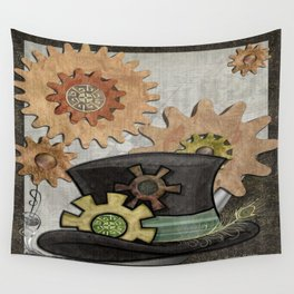 Steam Sass Steampunk Mixed Media Wall Tapestry