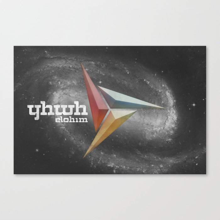 YHWH - God of gods Canvas Print by peterrollo