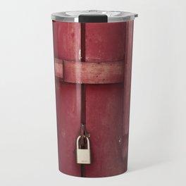 Locked red door Travel Mug