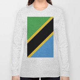 Tanzania flag emblem Long Sleeve T-shirt