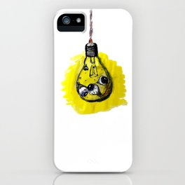 light eyes bulb iPhone Case