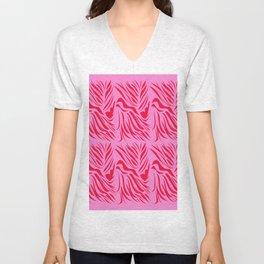 Design lines ethnic Pink Unisex V-Neck