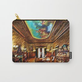 Chateau sur Mer Dining Room Watercolor - Newport Mansion Series - Jéanpaul Ferro Carry-All Pouch