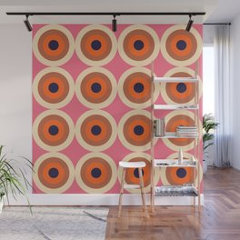 Nihoa 16 - Colorful Classic Abstract Minimal Retro 70s Style Graphic Design Wall Mural