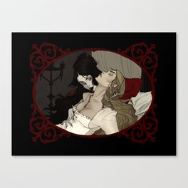 Carmilla and Laura Canvas Print